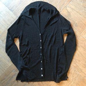 Shimmery Black Cardigan